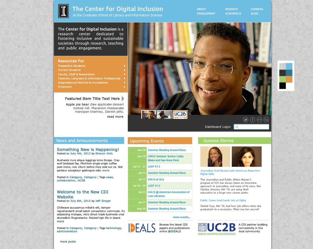 Center for Digital Inclusion Website