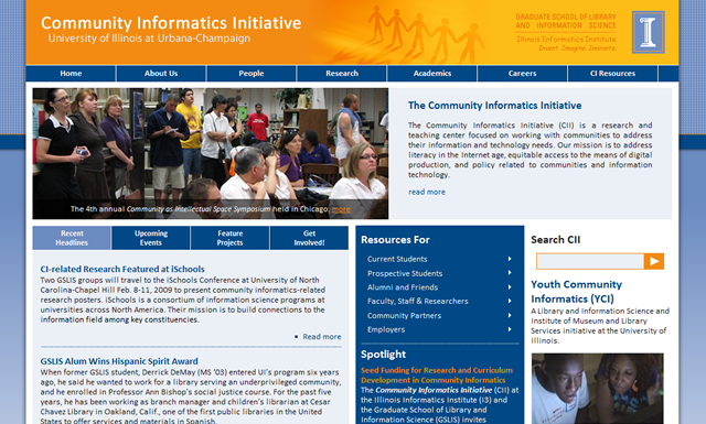 Community Informatics Initiative Website