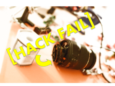 Camera Lens Repair Hack Fail